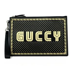 GUCCI Gucci Clutch Bag Black Women's Men's