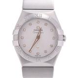 OMEGA Omega Constellation 12P Diamond 123.10.27.60.52.001 Ladies Stainless Steel Watch Quartz White Dial