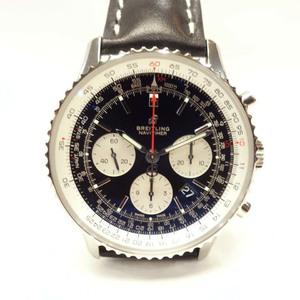 BREITLING Breitling Navitimer watch 1B01 self-winding chronograph black dial men's