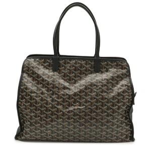 GOYARD Goyard Herringbone Ardy PM Tote Bag Shoulder PVC Leather Black Brown VIT120151