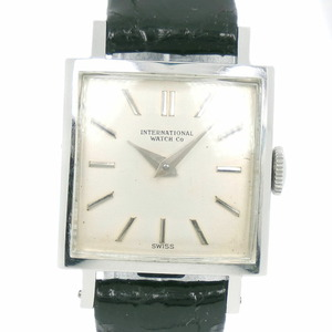 IWC Schaffhausen cal.41 Stainless Steel Leather Manual Winding Ladies Silver Dial Watch