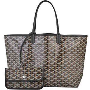 Goyard  Saint Louis PM Black Canvas Leather Tote Bag LTY01CL01P