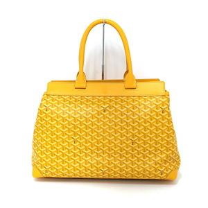 Goyard  Belchas MM Herringbone Tote Shoulder Boston Bag Yellow Silver Hardware