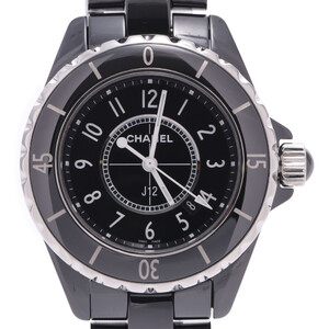 CHANEL シャネル J12 33mm ボーイズ 黒セラミック ステンレススチール 時計 クォーツ 黒文字盤