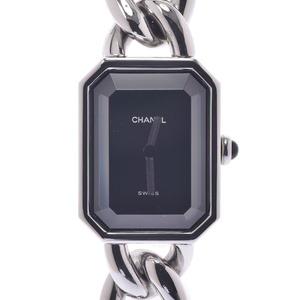 CHANEL シャネル プルミエール サイズM レディース ステンレススチール 時計 クォーツ 黒文字盤