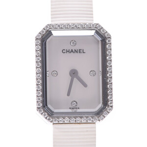 CHANEL シャネル プルミエール ベゼルダイヤ H2433 レディース ステンレススチール ラバー 時計 クォーツ シェル文字盤