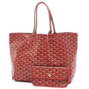 Goyard Saint Louis PM Tote Bag PVC Leather Red