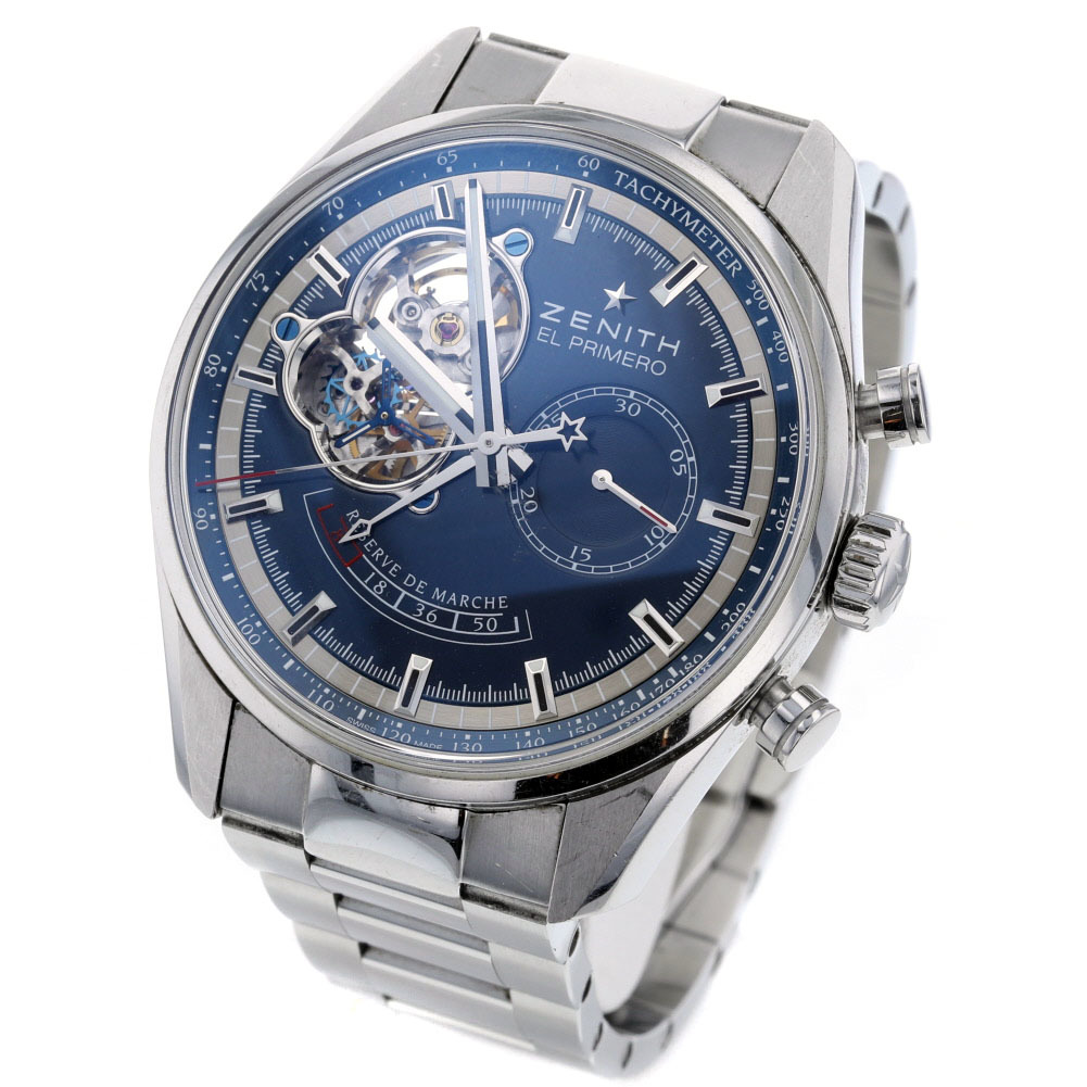 Zenith Watch El Primero Automatic Blue Dial 03.2085.4021 Stainless Steel Men's