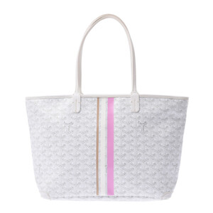 Goyard Artois PM White Unisex PVC Leather Tote Bag