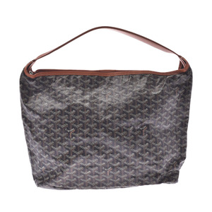 Goyard Fidji One Shoulder Bag Black Unisex PVC Leather