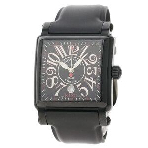 n'Or Franck Muller 10000KSCNR Conquistador Cortez King Noir Watch Stainless Steel Rubber Men