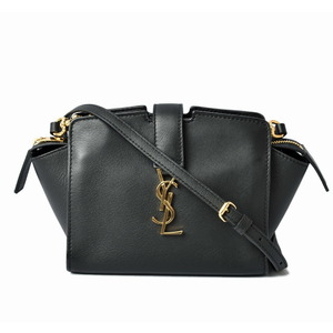Saint Laurent Shoulder Bag Toy Kabas 452322 SAINT LAURENT Mini Clutch Leather Black