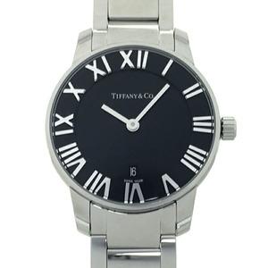 Tiffany Atlas 2 Hand 29MM Ladies Watch 34875952 Stainless Steel Black Roman Dial