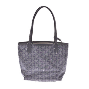 Goyard Saint Louis Junior Gray Ladies PVC Leather Handbag