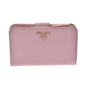 プラダ(Prada) PRADA プラダ L字ファスナー財布 ピンク ゴールド金具 1ML225 レディース サフィアーノ 二つ折り財布
