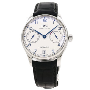IW500705 Portugieser 7 Days Watch Stainless Steel Leather Men's