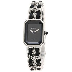 Chanel H0451 Premiere L Watch Stainless Steel Leather Ladies