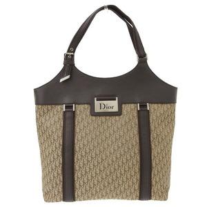 CHRISTIAN DIOR Street Chic Trotter Handbag Brown 15 BO 0075 Leather Bag