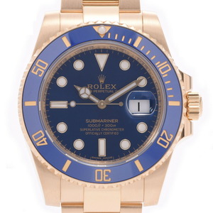 ROLEX ロレックス サブマリーナ デイト 116618LB メンズ イエローゴールド 時計 自動巻き ブルー文字盤
