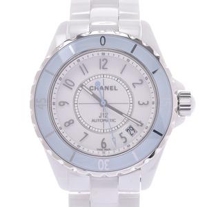 CHANEL シャネル J12 38mm ソフトブルー H4341 メンズ 白セラミック 時計 自動巻き 白文字盤