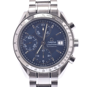 OMEGA Omega Speedmaster Date 3513.80 Men's Stainless Steel Watch Automatic Blue Dial