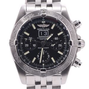 BREITLING Breitling Blackbird A44359 Men's Stainless Steel Watch Automatic Black Dial
