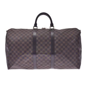 Louis Vuitton Damier Keepall Bandouliere 55 Brown N41414 Unisex Canvas Boston Bag