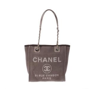 シャネル(Chanel) CHANEL シャネル ドーヴィル PM ベージュ系 レディース キャンバス トートバッグ
