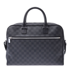 Louis Vuitton Damier Graffit Horizon 2WAY Bag Black Gray N23211 Men's Leather Business