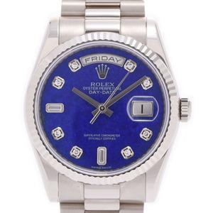 ROLEX ロレックス デイデイト 10Pダイヤ 118239 メンズ ホワイトゴールド 時計 自動巻き ラピスラズリ文字盤