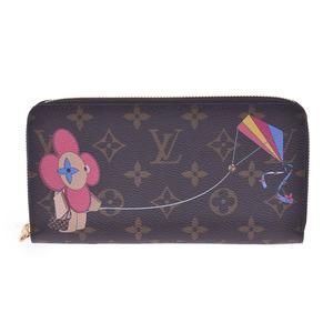 LOUIS VUITTON Monogram Zippy Wallet Japan Limited Brown M69054 Unisex Canvas