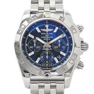 Breitling Chronomat 44 Chronograph Diamond Index Black Dial Automatic AB0110 Men's