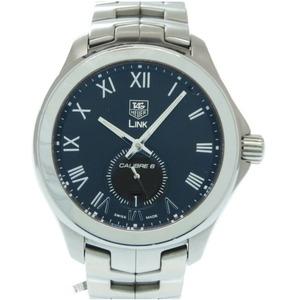 TAG Heuer self-winding link caliber 6 WAT2114 watch stainless steel black dial men's