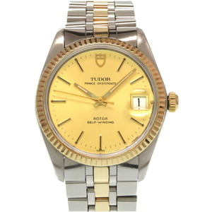 Tudor Prince Oyster Date 90733 Automatic Watch K18 Yellow Gold Stainless Steel Antique Men