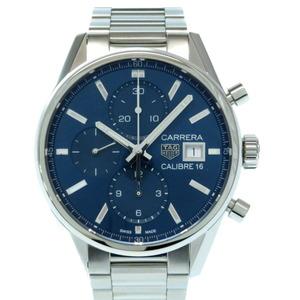 Heuer Carrera Caliber 16 Chronograph CBK2112 Self-winding Watch Stainless Steel Blue Dial Men's