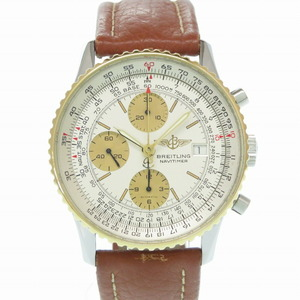 Breitling Old Navitimer Chronograph B13019 Self-winding watch K18YH Stainless Steel Leather Men's