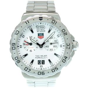TAG Heuer Quartz Formula 1 WAU111B Watch Stainless Steel White Mens