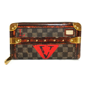 Louis Vuitton Zippy Wallet Round Transformed Damier Trunk Time M63490 Limited