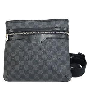 LOUIS VUITTON Shoulder Bag Damier Graffit VI1089 Black Gray Men's