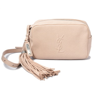 Saint Laurent Belt Bag Shoulder Lou 505976 Leather Pink Beige