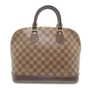 Louis Vuitton Alma Ladies Handbag N53151 Damier Canvas Ebene