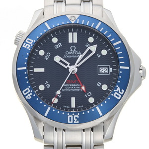 Omega Seamaster Diver 300M Co-Axial GMT 41MM Men's Watch 2535.80.00 Stainless Steel Blue Dial