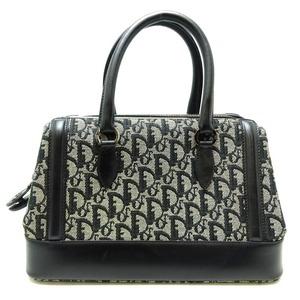 Christian Dior Trotter Handbags Womens Canvas Gray Black