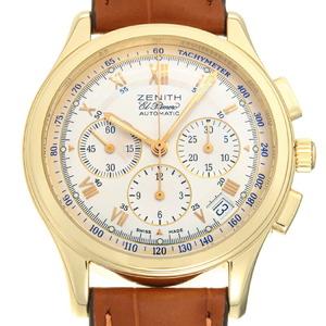 Zenith Class El Primero Chronograph Men's Watch 30.0500.400 K18 Yellow Gold Silver Roman Dial