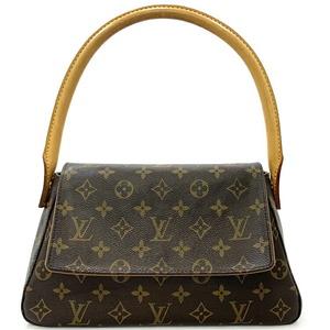 Louis Vuitton Mini Looping Monogram M51147 One Shoulder Bag Canvas Nume Leather SD0092 Handbag Flap Magnet Ladies