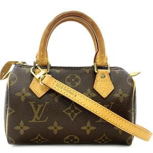 Louis Vuitton Mini Speedy Monogram M41534 Pochette Canvas Nume Leather TH1004 Shoulder Bag
