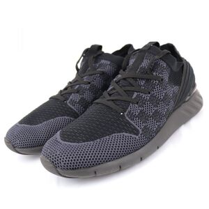Louis Vuitton Fast Lane Line Damier Knit Sneakers Mens Black Gray 9.5 LV Logo 1A41XZ