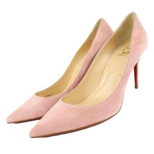 Christian Louboutin Kate 85 Suede Heel Pumps Pink 35.5 Ladies Pointed Toe