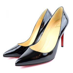 Christian Louboutin Pigalle Follies 100 Patent Heel Pumps Women's Black 38.5