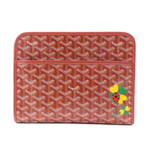 Goyard Juvens Ladybugs Handbag Coated Canvas Leather Ladies